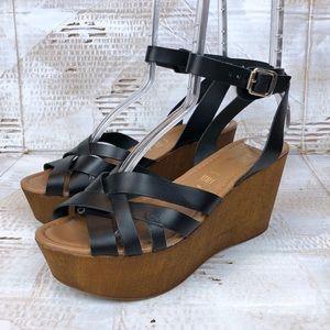Seychelles wood platform wrap fisherman sandal 8